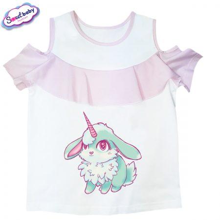 Детска блузка с рязан ръкав zaiche Bunnycorn