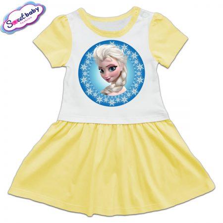 Детска рокличка в жълто Елза от замръзналото кралство