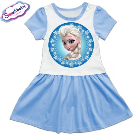 Детска рокличка в синьо Елза от замръзналото кралство