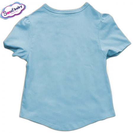 Детска туника в синьо гръб