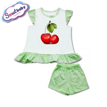 Детски сет в зелено Черешки