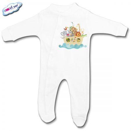 Бебешко гащеризонче в бяло Морска джунгла