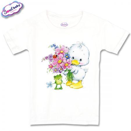 Детска тениска Пате и жабка
