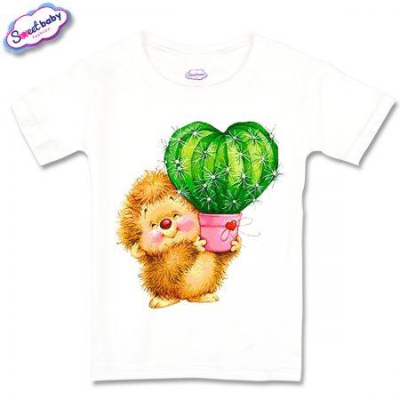 Детска тениска Таралеж с кактус