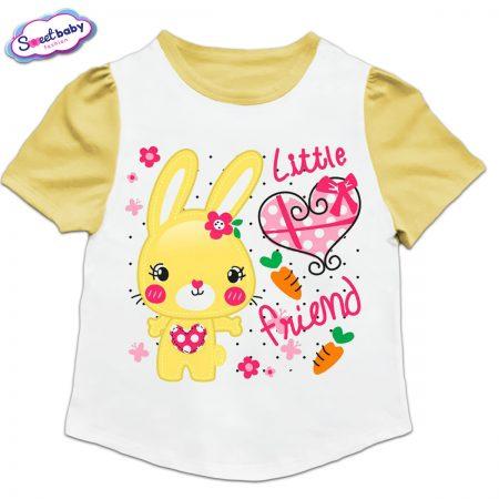 Детска туника в жълто и бяло Little friend