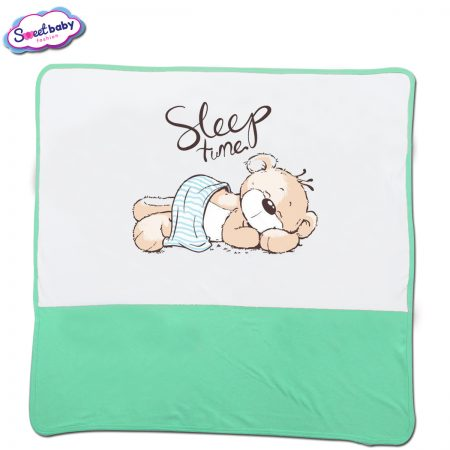 Бебешка пелена в мента и бяло Sleep tune