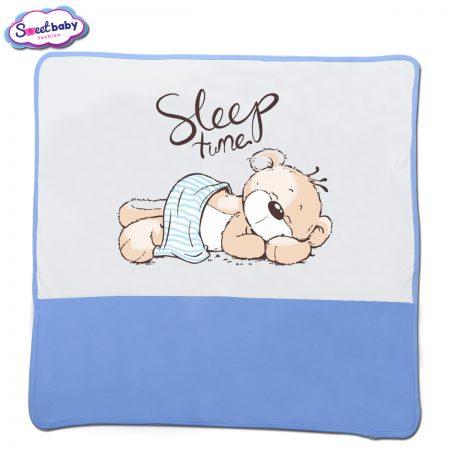 Бебешка пелена в синьо и бяло Sleep tune