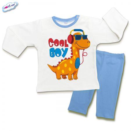 Детска пижамка в синьо и бяло Cool boy