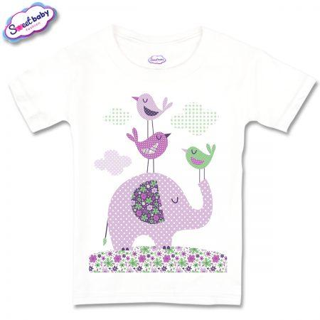 Детска тениска Слонче на точки