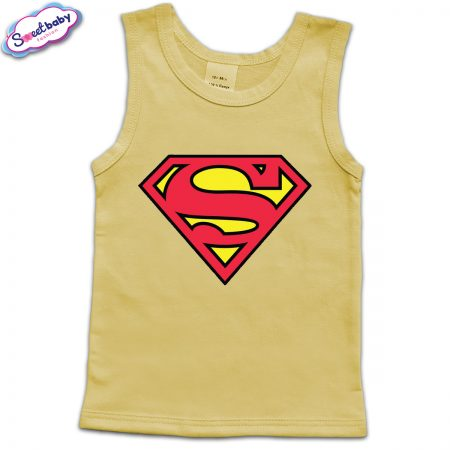 Детски потник в жълто Superman