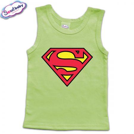 Детски потник в зелено Superman