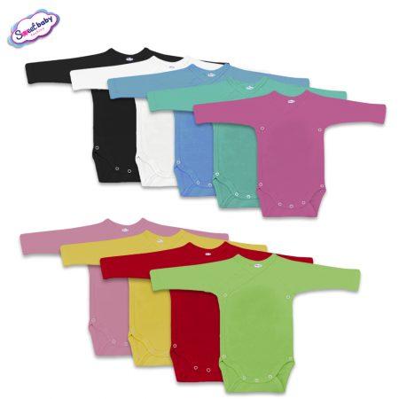Бебешки бодита прегърни ме дълъг ръкав различни цветове