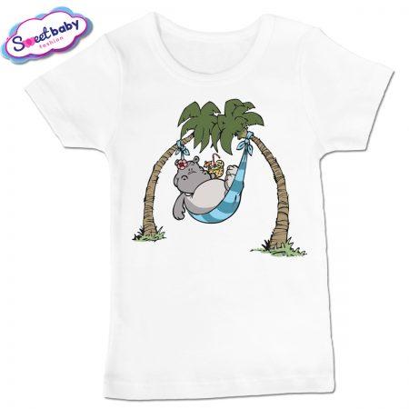 Детска тениска в бяло Хипо-коктейли