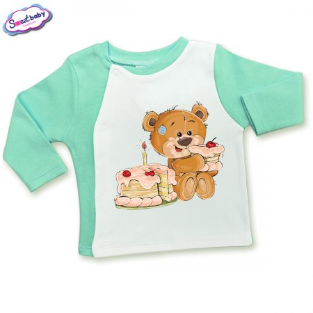 Бебешка жилетка в мента и бяло Торта за мечо