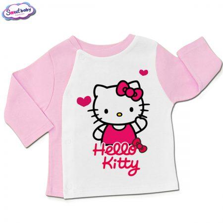 Бебешка жилетка в розово и бяло HelloKitty