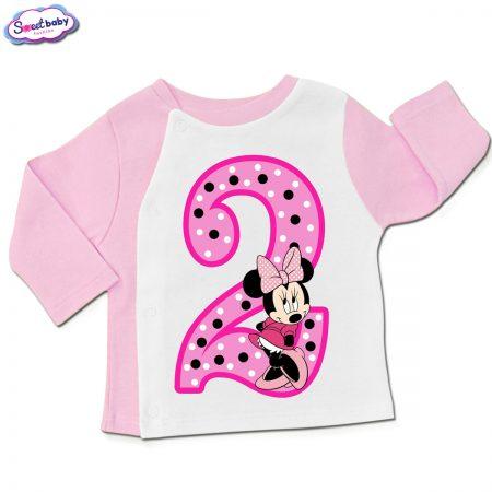Бебешка жилетка в розово и бяло Two