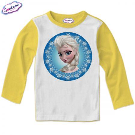 Детска блуза в жълто Елза от Замръзналото кралство