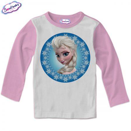 Детска блуза в розово Елза от Замръзналото кралство