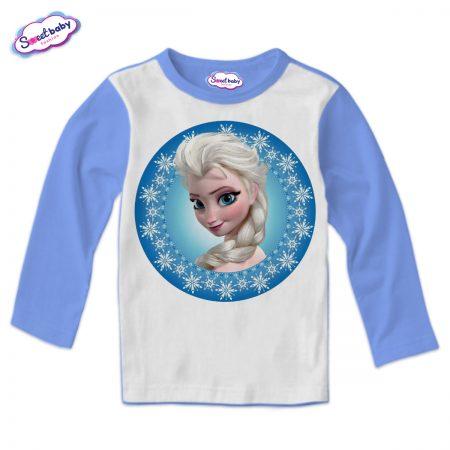 Детска блуза в синьо Елза от Замръзналото кралство