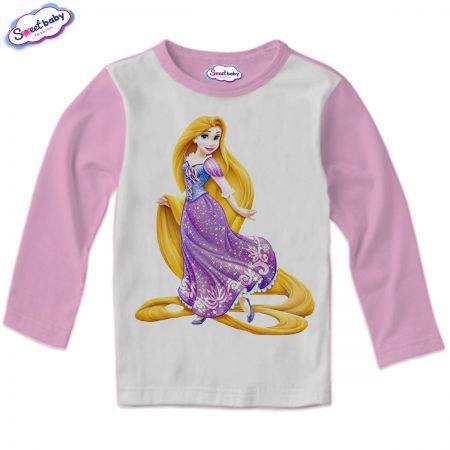Детска блузка в розово Рапунцел