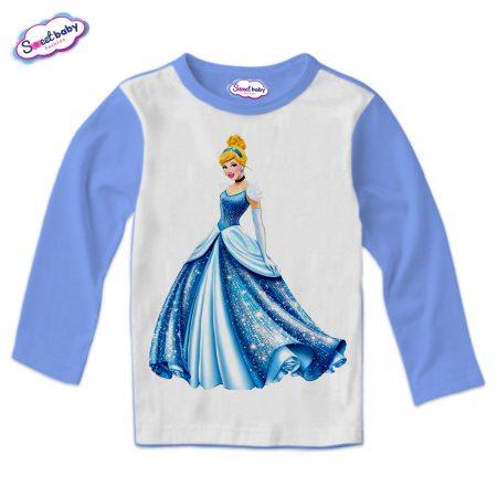 Детска блузка в синьо Пепеляшка