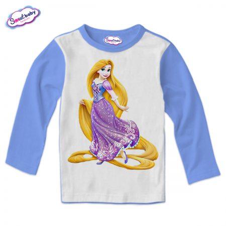 Детска блузка в синьо Рапунцел