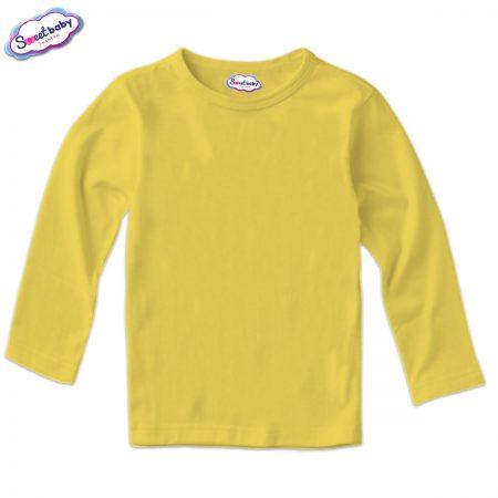 Детска блузка с дълъг ръкав в жълто