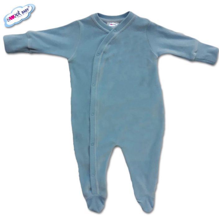Бебешко гащеризонче от плюш в синьо