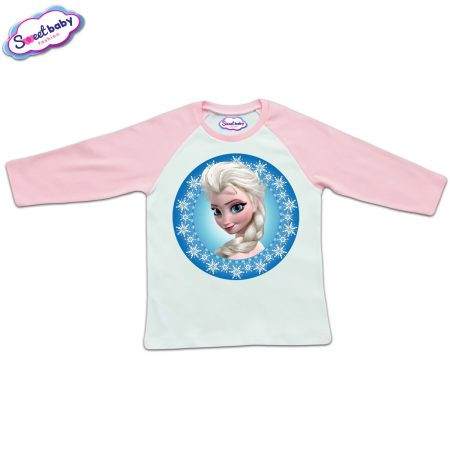 Блузка с дълъг ръкав в розово и бяло Елза от Замръзналото кралство