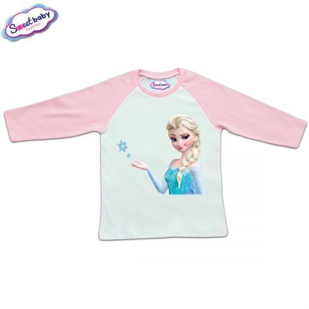 Блузка с дълъг ръкав в розово и бяло Елза Disney