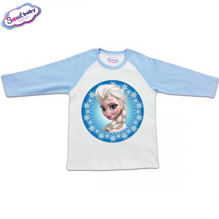 Блузка с дълъг ръкав в синьо и бяло Елза от Замръзналото кралство