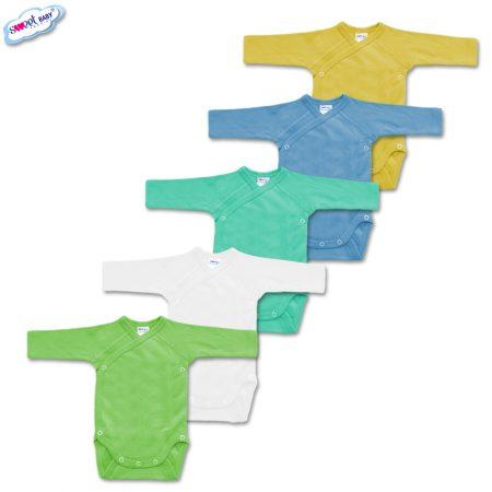 Сет от 5 бебешки бодита в различен цвят