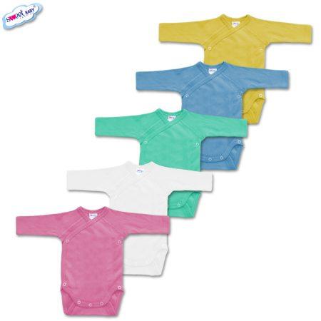 Сет от 5 бебешки бодита в различни цветове