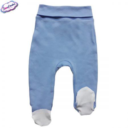 Бебешки ританки широк ластик в синьо и бяло