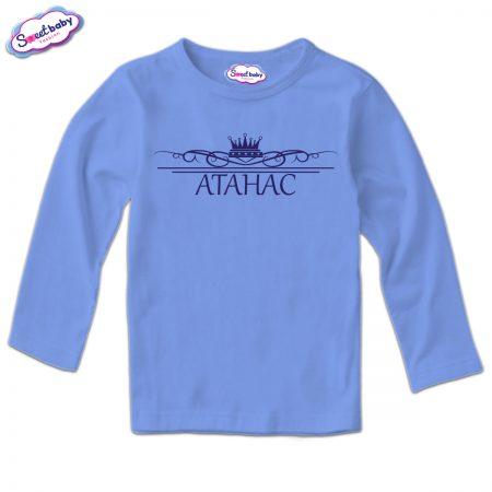 Детска блузка с дълъг ръкав в синьо Атанас