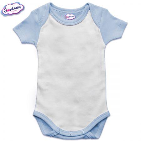 US бебешко боди с къс ръкав в синьо и бяло