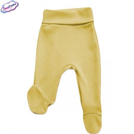 Бебешки ританки широк ластик в жълто