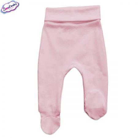 Бебешки ританки широк ластик в розово