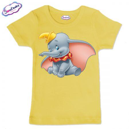 Детска тениска в жълто Дъмбо Дисни