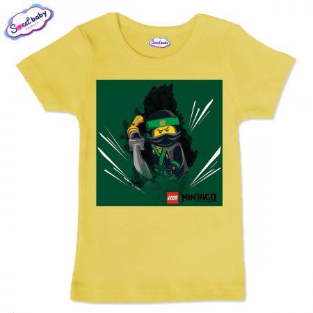 Детска тениска в жълто Лего нинджаго