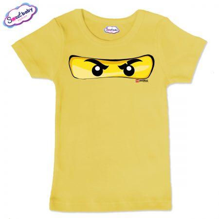 Детска тениска в жълто Маска Лего