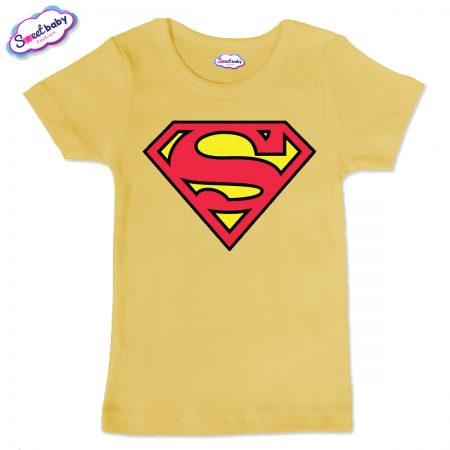 Детска тениска в жълто Супермен