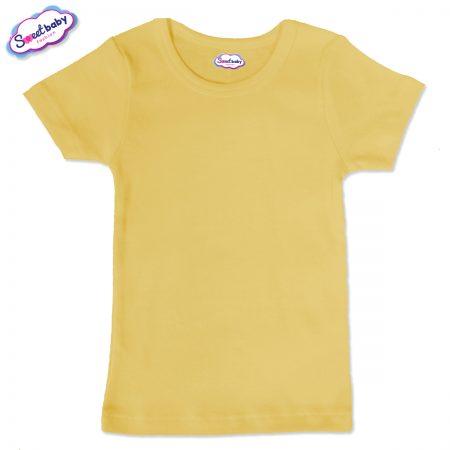 Детска тениска в жълто