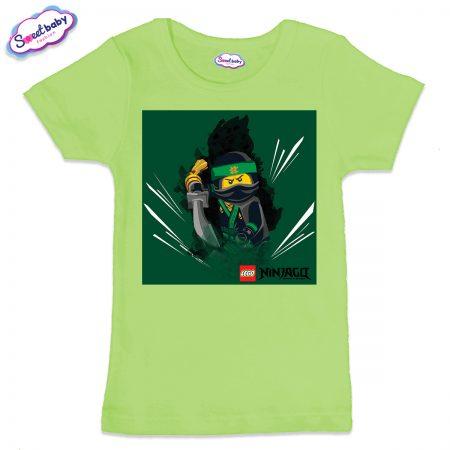 Детска тениска в зелено Лего нинджаго