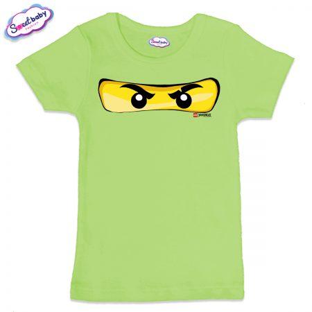 Детска тениска в зелено Маска Лего