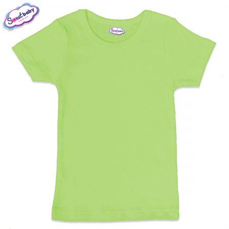 Детска тениска в зелен цвят