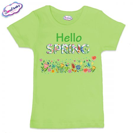 Детска тениска в зелен цвят Spring