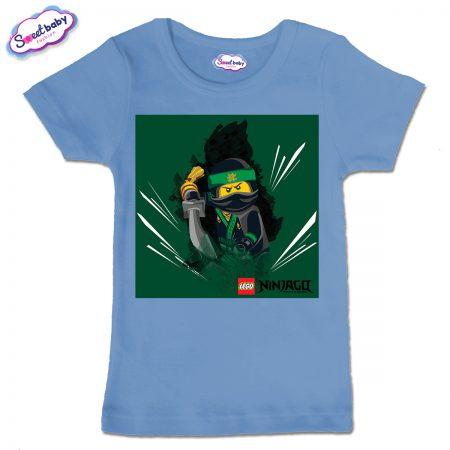 Детска тениска в синьо Лего нинджаго