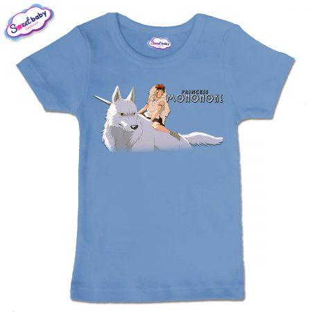 Детска тениска в синьо Принцеса Мононоке