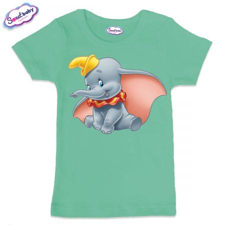 Детска тениска в цвят мента Дъмбо Дисни